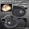 01 02 03 04 05 BMW E46 325 330 JDM BLACK HOUSING FOG LIGHTS