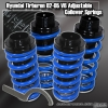 02, 03, 04, 05 HYUNDAI TIBURON JDM ADJUSTABLE COILOVER LOWERING SPRINGS BLUE W/ SCALE