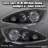 05 06 TOYOTA CAMRY JDM HEADLIGHTS BLACK W/ AMBER REFLECTORS