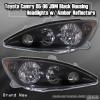 05 06 TOYOTA CAMRY JDM HEADLIGHTS BLACK W/ AMBER REFLECTORS