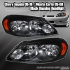 05-2010 CHEVY IMPALA MONTE CARLO BLACK HOUSING HEAD LIGHTS LAMPS AMBER REFLECTOR
