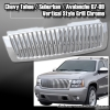 07 08 09 CHEVY TAHOE SUBURBAN AVALANCHE VERTICAL STYLE GRILLE GRILL CHROME