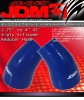 """2.75"""" TO 4"""" 45 DEGREE JDM SPORT 4-PLY BLUE SILICONE REDUCER HOSE COUPLER"""