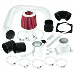 2002-2005 Mitsubishi Lancer 2.0L Manual Cold Air Intake Polish + Red Filter