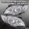 09 10 11 TOYOTA COROLLA JDM CRYSTAL HEADLIGHTS CHROME