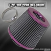 3 inch Universal Filter Purple Top / White Body / Purple Bottom