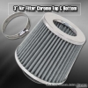 3 inch Universal Filter Chrome Top / Sliver Body / Chrome Bottom