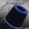 3 inch Universal Filter  Blue Top / Blue Body / Blue Bottom
