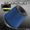 3 inch Universal Filter Black Top / Blue Body / Black Bottom