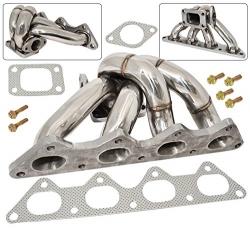 AJP Distributors 1G 2G 4G63 Turbo Manifold Stainless Steel with Wastegate Flange For Eclipse Talon Laser Evolution