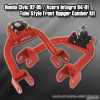 Honda Civic 92, 93, 94, 95 Tube Style Front Upper Camber Kit Red