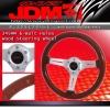 JDM SPORT 345MM LIGHT WOOD GRAIN W/ STREAK DESIGNED STEERING WHEEL