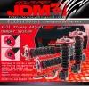 JDM SPORT 93 94 95 96 97 98 99 00 01 SUBARU IMPREZA WRX GC8 FULLY ADJUSTABLE SUSPENSION DAMPER RED COILOVER SYSTEM