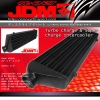 """JDM SPORT TUBE AND FIN FRONT MOUNT TURBO INTERCOOLER 28""""x7""""x2.5"""""""