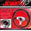 JDM SPORT FUSION RED STYLE RACING STEERING WHEEL 320MM