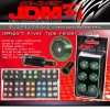 JDM SPORT GREEN RIVET TYPE FENDER WASHER KIT WITH M8 BOLTS