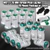 M12 x 1.25MM UNIVERSAL THREAD PITCH STEEL LUG NUTS W/ KEYS - 20 PIECES