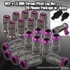 M12 x 1.5MM UNIVERSAL THREAD PITCH STEEL LUG NUTS W/ KEYS - 20 PIECES