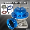 UNIVERSAL JDM Greddy TYPE RS STYLE TURBO BLOW OFF VALVE BLUE W/ BLUE LIP