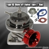 UNIVERSAL JDM Greddy TYPE RS STYLE TURBO BLOW OFF VALVE GUN METAL W/ RED LIP