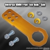 Universal Octagonal JDM Style 10mm Front Tow Hook Kit Gold