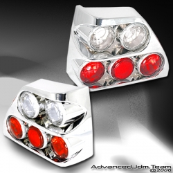 85 86 87 88 89 90 91 VOLKSWAGEN GOLF II 3D TAIL LIGHTS CHROME