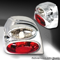 92 93 94 95 96 VOLKSWAGEN GOLF II 3D TAIL LIGHTS CHROME