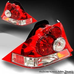 01 02 03 04 HONDA CIVIC TAIL LIGHTS RED 2/3 DOOR
