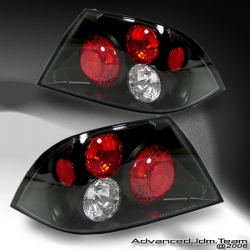 02 03 04 MITSUBISHI LANCER ALTEZZA TAIL LIGHTS BLACK