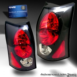 03 04 05 06 SATURN VUE TYC TAIL LIGHTS BLACK