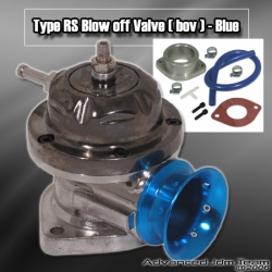 UNIVERSAL JDM Greddy TYPE RS STYLE TURBO BLOW OFF VALVE Gun metal W/ BLUE LIP