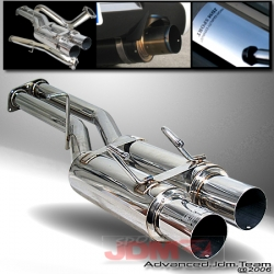 JDM SPORTS 89 90 91 92 93 94 NISSAN 240SX S13 STAINLESS STEEL DUAL CATBACK EXHAUST