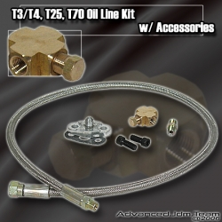 TURBO FEED OIL LINE KIT FOR T3 / T4