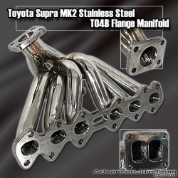 93 94 95 96 97 98 TOYOTA SUPRA MKII STAINLESS STEEL TURBO MANIFOLD