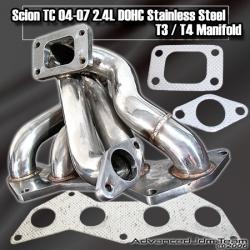 05 06 07 08 SCION TC DOHC 2AZ-FE / CAMRY / SOLARA STAINLESS STEEL T3/T4 TURBO MANIFOLD