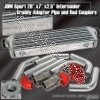 JDM SPORTS UNIVERSAL GREDDY STYLE TURBO INTERCOOLER CHROME PIPPING KIT RED COUPLERS
