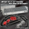 JDM SPORTS UNIVERSAL TURBO SMALL INTERCOOLER BLACK PIPPING KIT RED COUPLERS