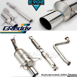 00 01 02 03 04 05 TOYOTA CELICA GT GREDDY EVOLUTION 2 CATBACK EXHAUST SYSTEM