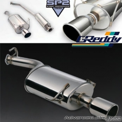 00 01 ACURA INTEGRA GSR 2 DOOR GREDDY STREET PERFORMANCE 2 CATBACK EXHAUST SYSTEM