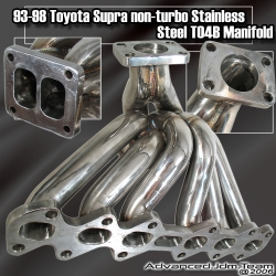 93 94 95 96 97 98 TOYOTA SUPRA STAINLESS STEEL NON TURBO MANIFOLD