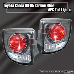 00 01 02 03 04 05 TOYOTA CELICA ALTEZZA TAIL LIGHTS CARBON FIBER