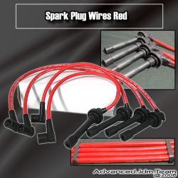 88 89 90 91 HONDA CIVIC CRX SPARK PLUG WIRES RED