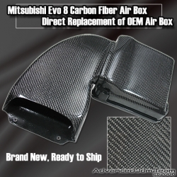 MITSUBISHI EVO 8 CARBON FIBER AIR BOX