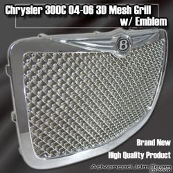 05 06 07 CHRYSLER 300C MESH GRILLE W/ B EMBLEM