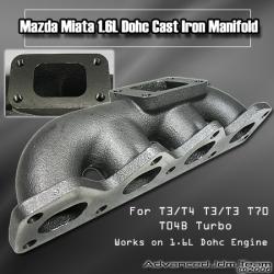 89 90 91 92 93 MAZDA MIATA 1.6L DOHC CAST IRON TURBO MANIFOLD