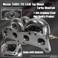 89 90 91 92 93 94 NISSAN 240SX S13 CA18 STAINLESS STEEL TURBO TOP MOUNT MANIFOLD