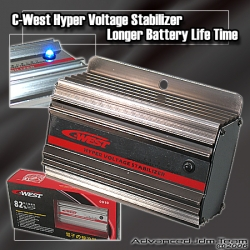 JDM C-WEST HYPER VOLTAGE STABILIZER GUN METAL