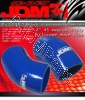 JDM SPORT 2.5 INCHES 45 DEGREE REINFORCE SILICONE HOSE BLUE 4 LAYERS POLYESTER COUPLER