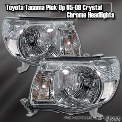 05 06 07 08 TOYOTA TACOMA PICK UP JDM CHROME HEADLIGHTS