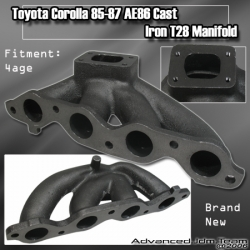 85 86 87 TOYOTA COROLLA / SPRINTER AE86 4AGE TURBO CAST IRON MANIFOLD